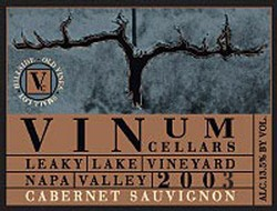 2003 Cabernet Sauvignon, Leaky Lake Vineyard