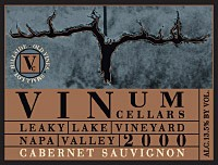 2000 Cabernet Sauvignon, Leaky Lake Vineyard