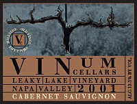 2001 Cabernet Sauvignon, Leaky Lake Vineyard
