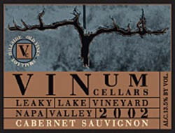 2002 Cabernet Sauvignon, Leaky Lake Vineyard